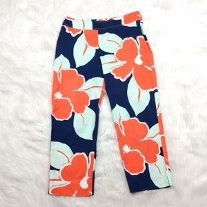 J McLaughlin floral cropped pants